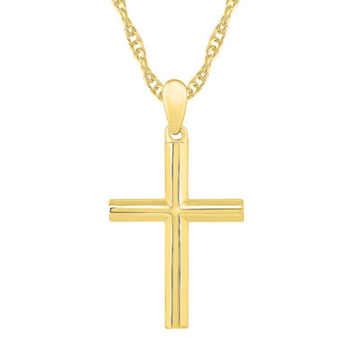 Womens 10K Gold Cross Pendant Necklace