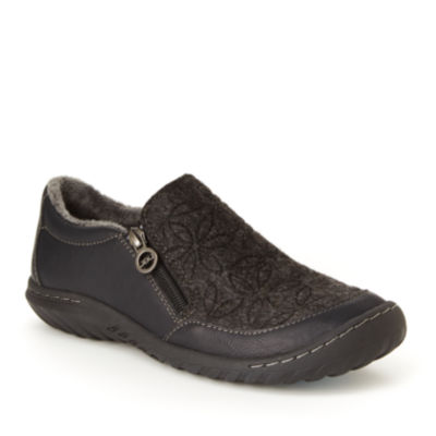 J Sport By Jambu Womens Crimson Slip-On Shoes Zip Round Toe-Wide Width