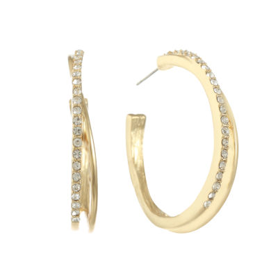 Gloria Vanderbilt 40.4mm Hoop Earrings