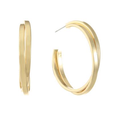 Gloria Vanderbilt 40.8mm Hoop Earrings