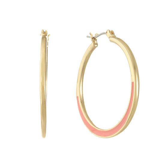 Gloria Vanderbilt 346mm Hoop Earrings