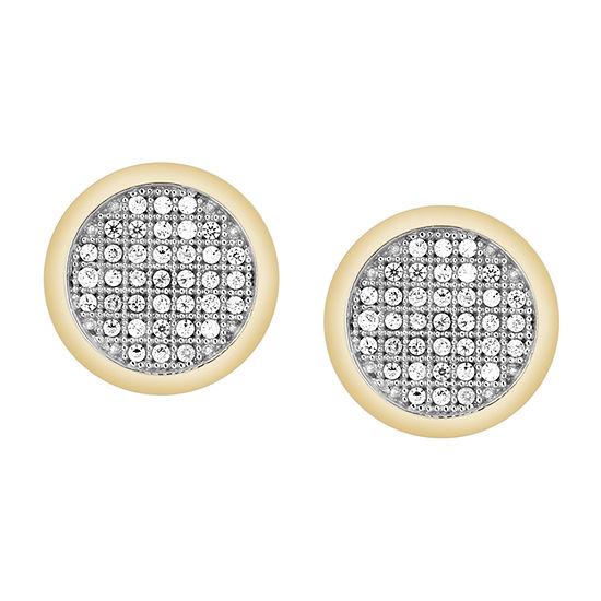 1/6 CT. T.W. Genuine White Diamond 10K Gold 10.1mm Stud Earrings