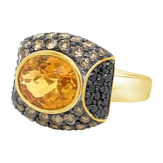 Le Vian Grand Sample Sale™ Ring featuring Cinnamon Citrine® Blackberry and Chocolate Diamonds set in 14K Honey Gold™