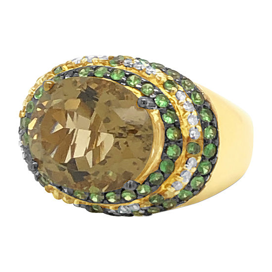 Le Vian Grand Sample Sale™ Ring featuring Lemon Quartz Forest Green Tsavorite™ Vanilla Diamonds® set in 14K Honey Gold™