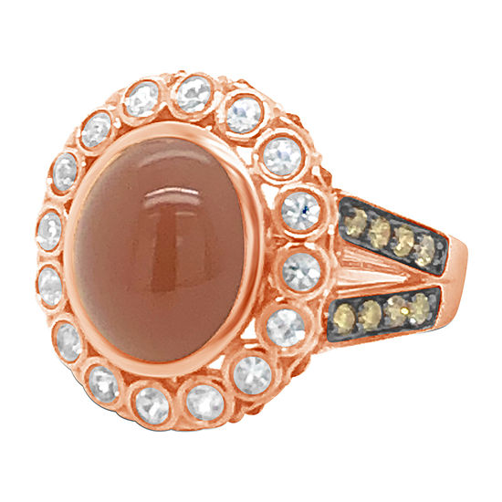 Le Vian Grand Sample Sale™ Ring featuring Moonstone White Sapphire Chocolate Diamonds® set in 14K Strawberry Gold®