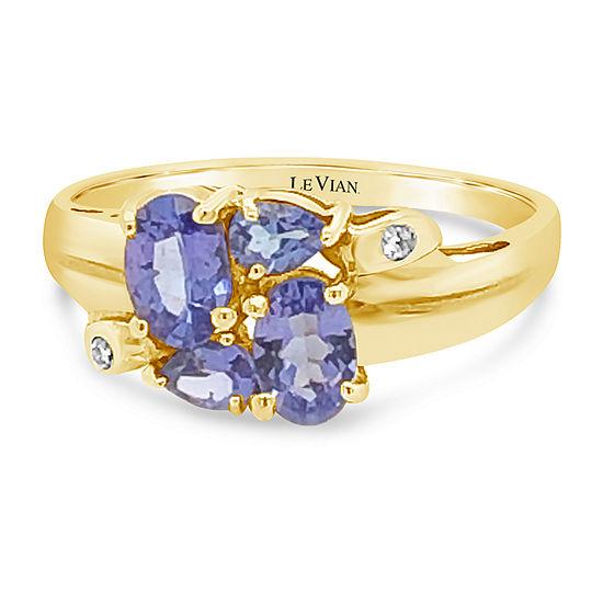 Le Vian Grand Sample Sale™ Ring featuring Blueberry Tanzanite®Vanilla Diamonds® set in 18K Honey Gold™