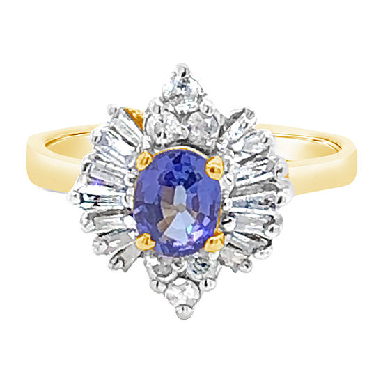 Le Vian Grand Sample Sale™ Ring featuring Blueberry Tanzanite® Nude Diamonds™ Vanilla Diamonds® set in 14K Honey Gold™
