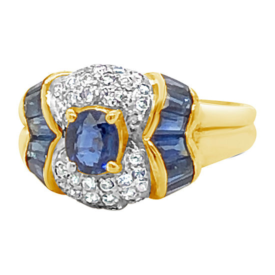 Le Vian Grand Sample Sale™ Ring featuring Blueberry Sapphire™ Vanilla Diamonds® set in 18K Honey Gold™