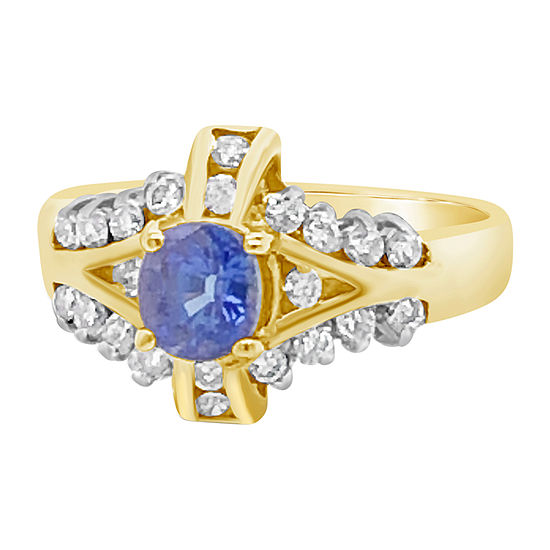 Le Vian Grand Sample Sale™ Ring featuring Blueberry Tanzanite® Vanilla Diamonds® set in 14K