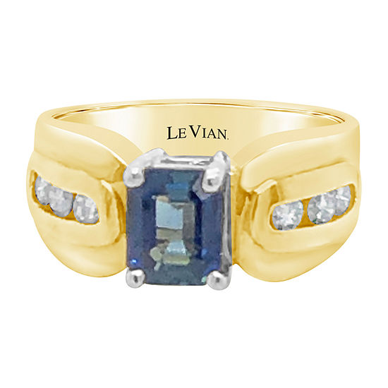 Le Vian Grand Sample Sale™ Ring featuring Blueberry Sapphire™ Vanilla Diamonds® set in 14K Honey Gold™