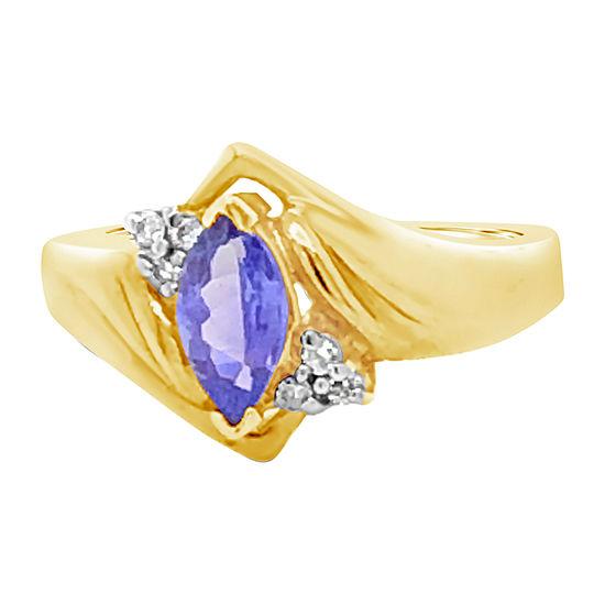 Le Vian Grand Sample Sale™ Ring featuring Blueberry Tanzanite®Vanilla Diamonds® set in 14K Honey Gold™