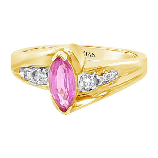 Le Vian Grand Sample Sale™ Ring featuring Bubble Gum Pink Sapphire™ Vanilla Diamonds® set in 14K Honey Gold™