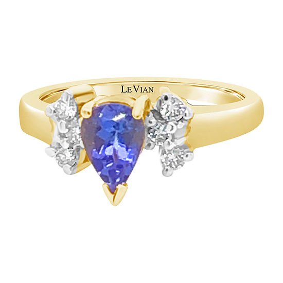 Le Vian Grand Sample Sale™ Ring featuring Blueberry Tanzanite®Vanilla Diamonds® set in 14K Honey Gold™