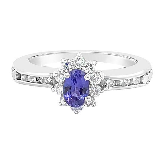 Le Vian Grand Sample Sale™ Ring featuring Blueberry Tanzanite® Vanilla Diamonds® set in 18K Vanilla Gold®