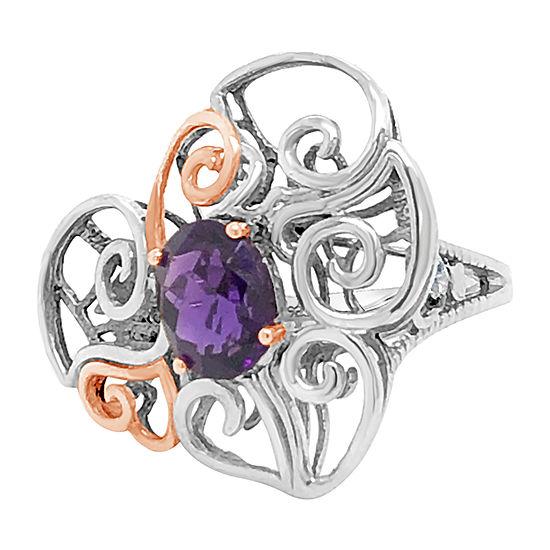 Le Vian Grand Sample Sale™ Ring featuring Grape Amethyst™ Chocolate Diamonds® set in S14
