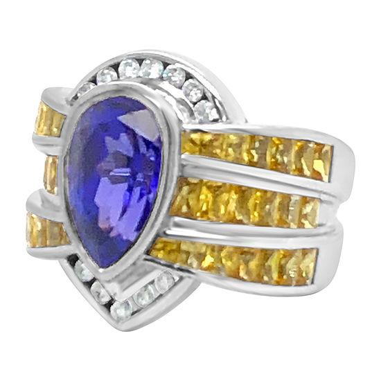 Le Vian Grand Sample Sale™ Ring featuring Blueberry Tanzanite® Yellow SapphireVanilla Diamonds® set in 18K Vanilla Gold®