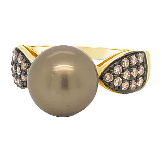 Le Vian Grand Sample Sale™ Ring featuring Chocolate Pearls® Chocolate Diamonds® set in 14K Honey Gold™