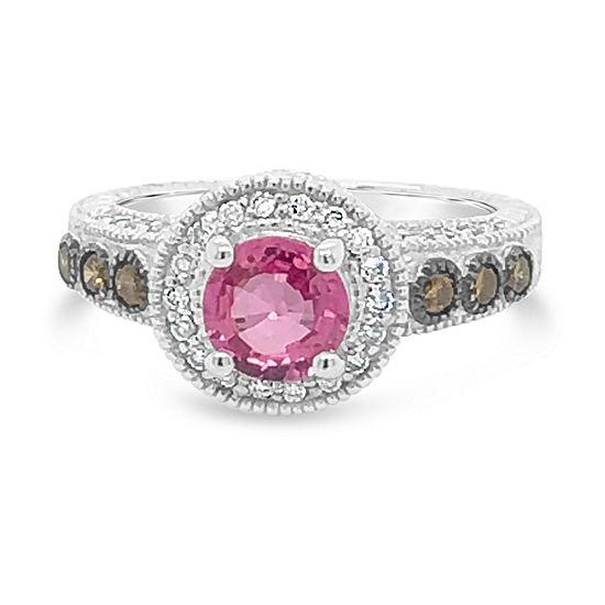 Le Vian Grand Sample Sale™ Ring featuring Bubble Gum Pink Sapphire™ Chocolate Diamonds® Vanilla Diamonds® set in 14K Vanilla Gold®