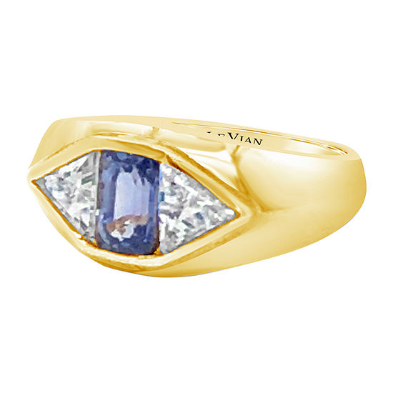 Le Vian Grand Sample Sale™ Ring featuring Blueberry Tanzanite® White Sapphire set in 14K Honey Gold™