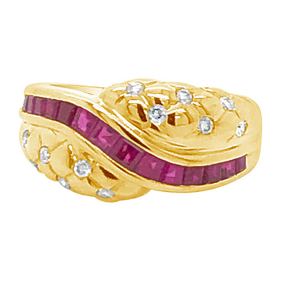 Le Vian Grand Sample Sale™ Ring featuring Passion Ruby™ Vanilla Diamonds® set in 14K Strawberry Gold®