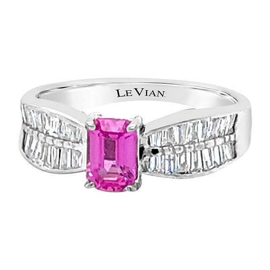 Le Vian Grand Sample Sale™ Ring featuring Bubble Gum Pink Sapphire™ Vanilla Diamonds® set in 18K Vanilla Gold®