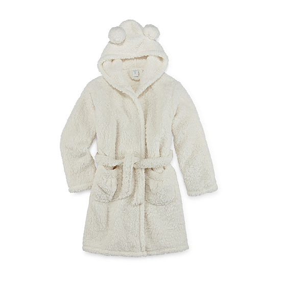 Arizona Little Kid / Big Kid Girls Fleece Long Sleeve Knee Length Robe