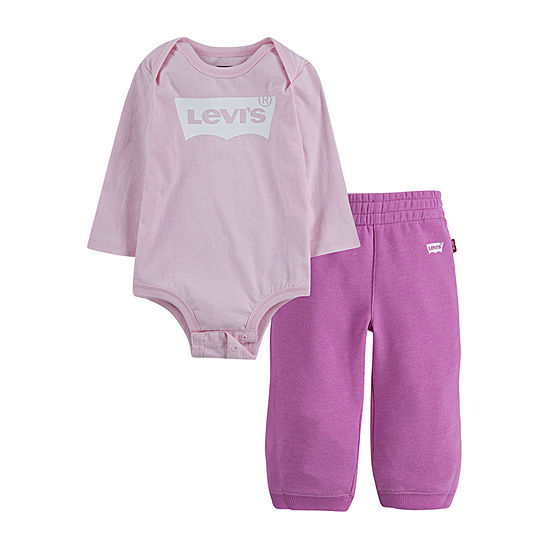 Levi's 2 Pc Set Girls Logo Pant Set Baby