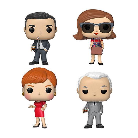 Funko Pop! Tv Mad Men Series 1 Collectors Set - Don Draper Peggy Roger Joan