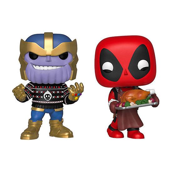 Funko Pop! Marvel Holiday Marvel Collectors Set 3 - Thanos Deadpool