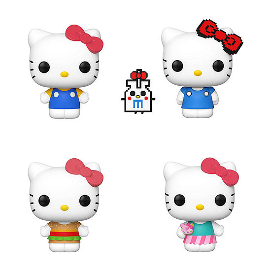 Funko Pop! Sanrio Hello Kitty Series 2 Collectors Set - Classic Hello Kitty Anniversary Burger Shirt and Sweat Treat
