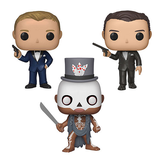 Funko Pop! Movies James Bond Series 2 Collectors Set - Daniel Craig Casino Royale Baron Samedi Live And Let Die Pierce Brosnan Golden Eye