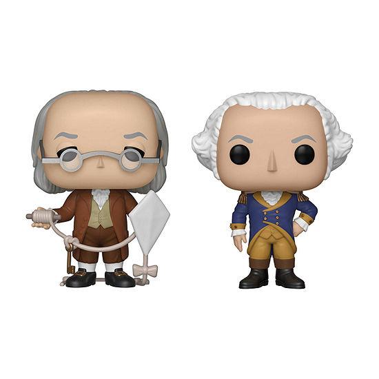 Funko Pop! Icons American History Collectors Set - Benjamin Franklin George Washington