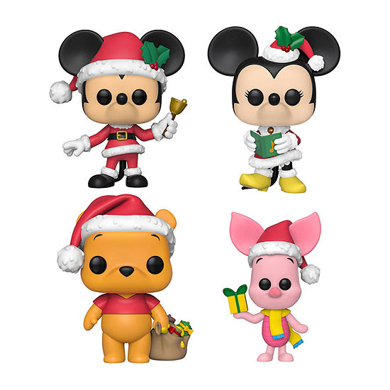 Funko Pop! Disney Holiday Collectors Set - Mickey Mouse Minnie Mouse Winnie The Pooh Piglet