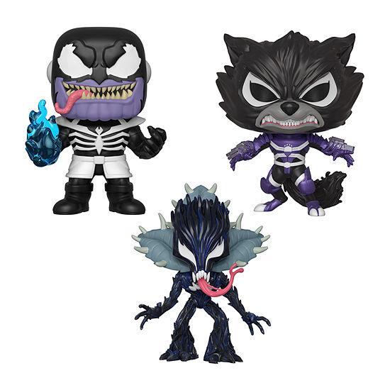 Funko Pop! Marvel Venom Series 2 Collectors Set 1 - Thanos Rocket Raccoon Groot