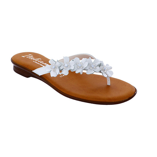 Italiana By Italian Shoemakers Womens Shanie Flat Sandals