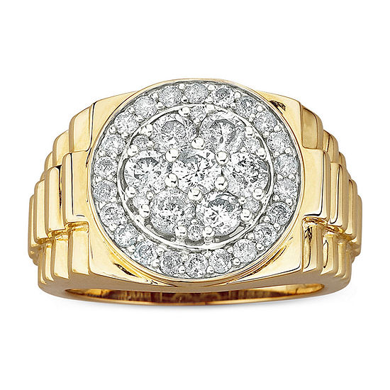 Men's 2 CT. T.W. Genuine Diamond Cluster Ring in 10K Gold