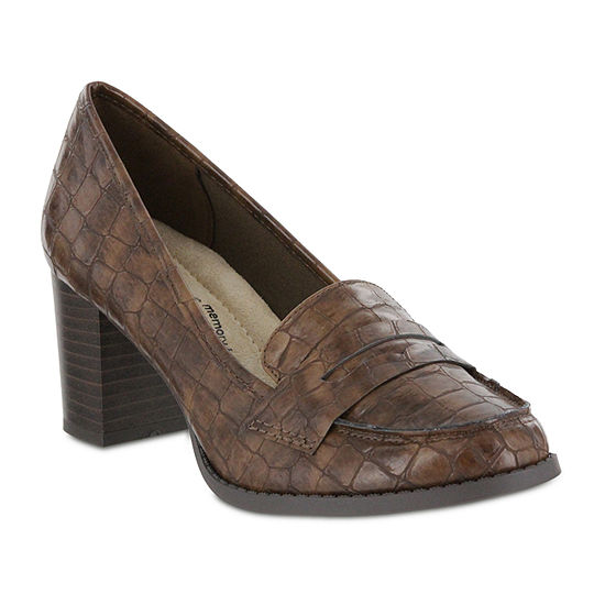 Mia Amore Womens Ilsa Pumps Round Toe Stacked Heel