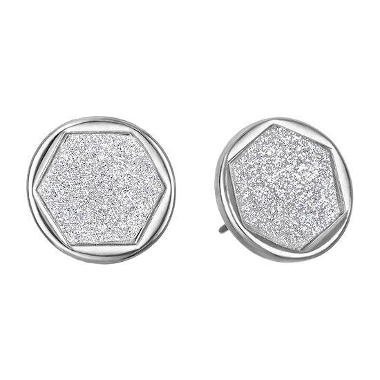 Delicates 10.7mm Round Stud Earrings