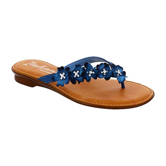Italiana By Italian Shoemakers Womens Sheila Flat Sandals