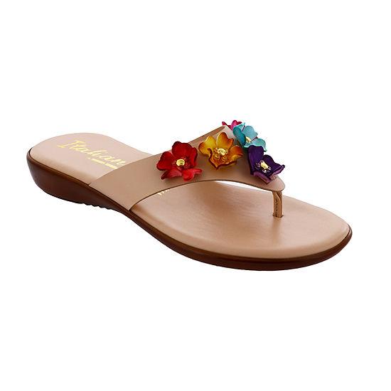 Italiana By Italian Shoemakers Womens Maree Flat Sandals