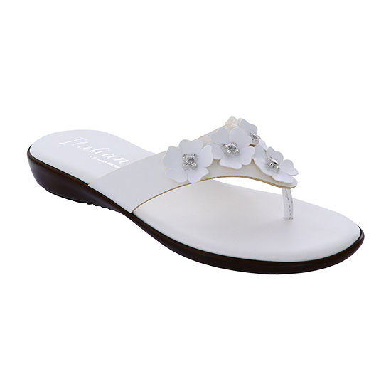 Italiana By Italian Shoemakers Womens Maree Flat Sandals