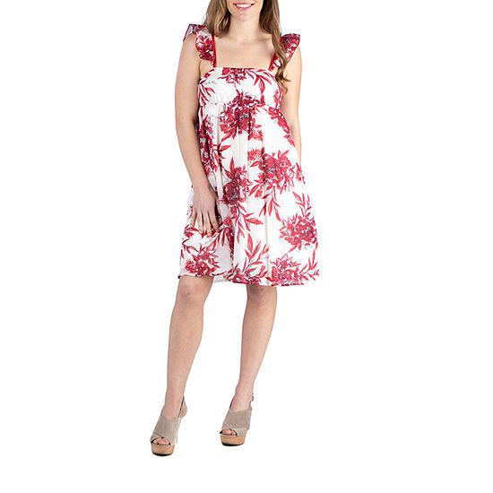 24/7 Comfort Apparel Sleeveless Cotton Summer Dress