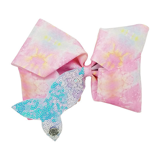 Jojo Siwa Signature Printed Bow with Sequin Mermaid Tail