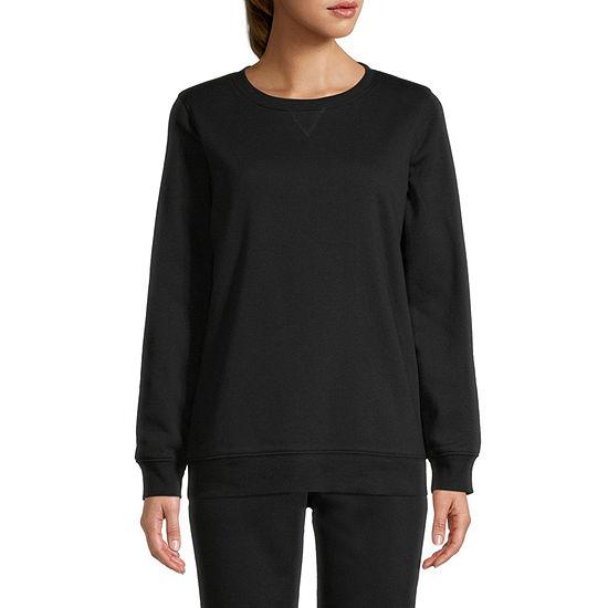 St. John's Bay Tall Womens Crew Neck Long Sleeve Sweatshirt