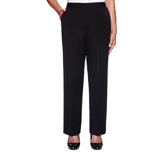Alfred Dunner Knightsbridge Station Womens Slim Pull-On Pants