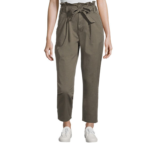 a.n.a Womens Mid Rise Paperbag Waist Ankle Pant