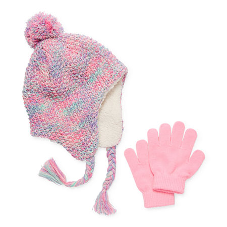 Capelli of N.Y. Little & Big Girls 2-pc. Cold Weather Set, Small-medium , Pink