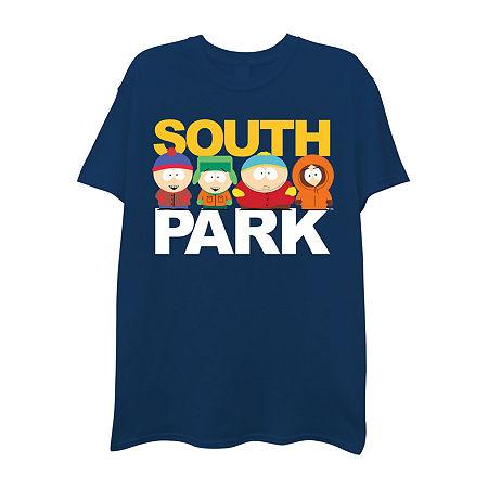 Mens Crew Neck Short Sleeve Graphic T-Shirt, Medium , Blue