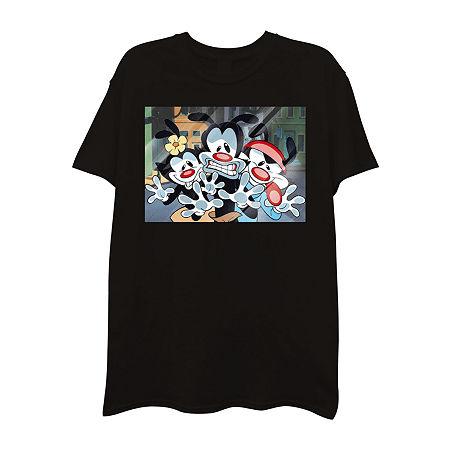 Mens Crew Neck Short Sleeve Graphic T-Shirt, Medium , Black