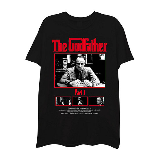 The Godfather Mens Crew Neck Short Sleeve Graphic T-Shirt